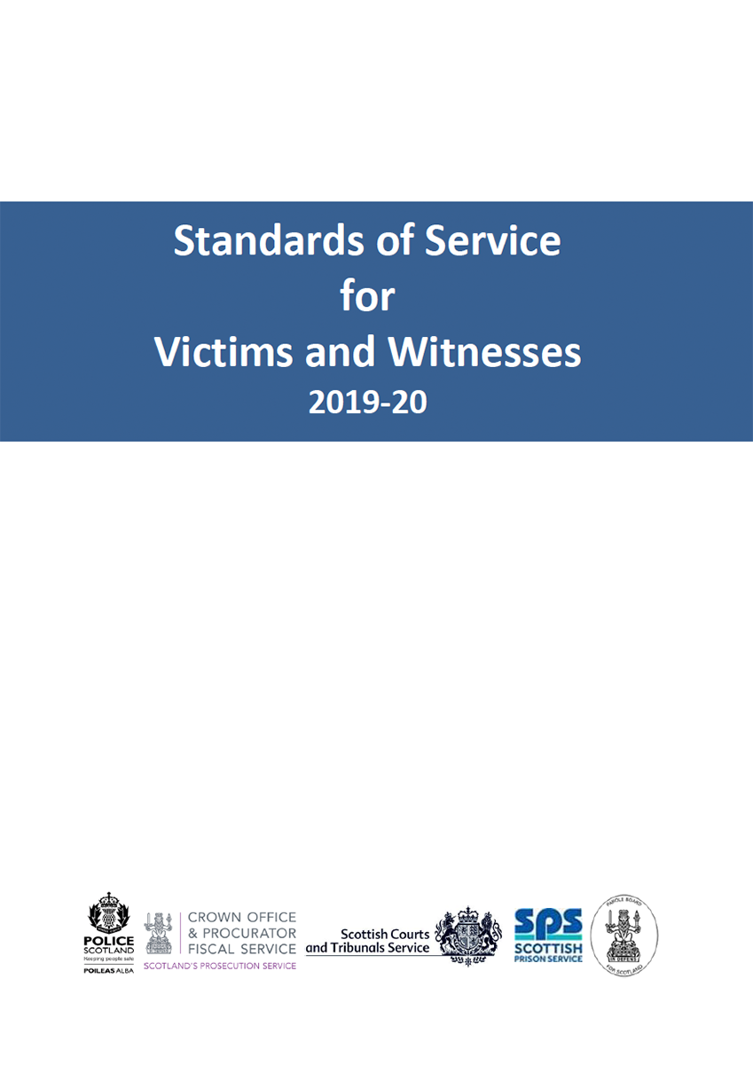 Standards of Service for Victims and Witnesses 2019-20 - Cover image